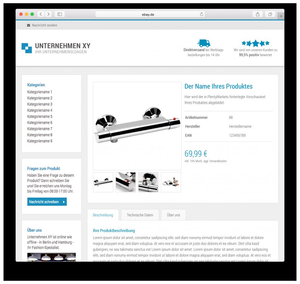 Plentymarkets eBay Listing Template Ultimate | Marvin-Langer.de